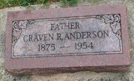 ANDERSON, CRAVEN R. - Thurston County, Nebraska | CRAVEN R. ANDERSON - Nebraska Gravestone Photos