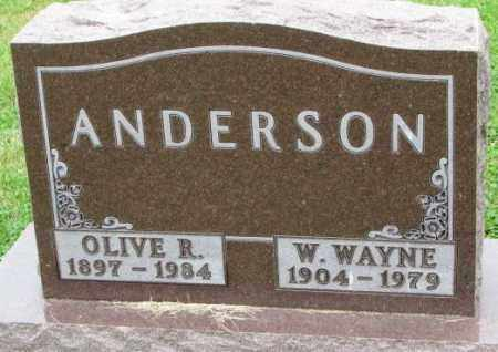 ANDERSON, OLIVE R. - Thurston County, Nebraska | OLIVE R. ANDERSON - Nebraska Gravestone Photos