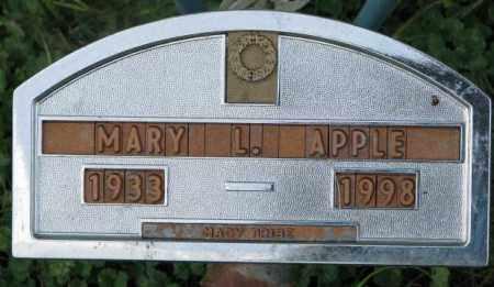 APPLE, MARY L. - Thurston County, Nebraska | MARY L. APPLE - Nebraska Gravestone Photos