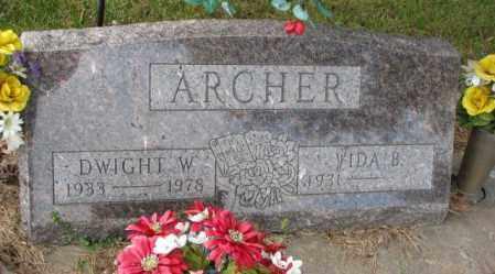 ARCHER, DWIGHT W. - Thurston County, Nebraska | DWIGHT W. ARCHER - Nebraska Gravestone Photos