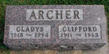 ARCHER, GLADYS - Thurston County, Nebraska   GLADYS ARCHER - Nebraska Gravestone Photos