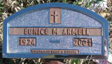 ARMELL, EUNICE M. - Thurston County, Nebraska   EUNICE M. ARMELL - Nebraska Gravestone Photos