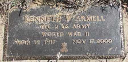 ARMELL, KENNETH W. - Thurston County, Nebraska | KENNETH W. ARMELL - Nebraska Gravestone Photos