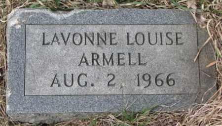ARMELL, LAVONNE LOUISE - Thurston County, Nebraska | LAVONNE LOUISE ARMELL - Nebraska Gravestone Photos