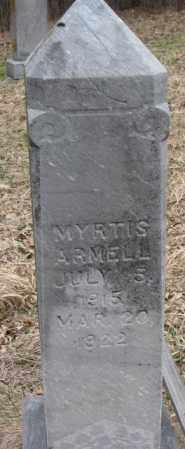 ARMELL, MYRTIS - Thurston County, Nebraska   MYRTIS ARMELL - Nebraska Gravestone Photos