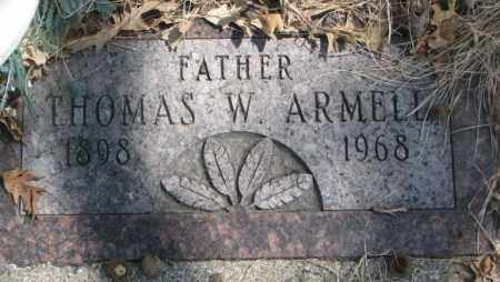 ARMELL, THOMAS W. - Thurston County, Nebraska | THOMAS W. ARMELL - Nebraska Gravestone Photos