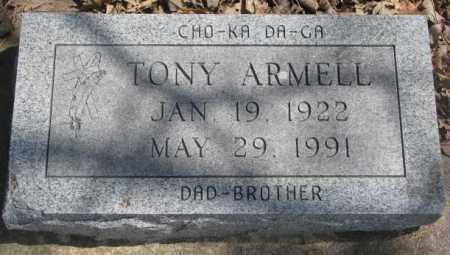 ARMELL, TONY - Thurston County, Nebraska   TONY ARMELL - Nebraska Gravestone Photos