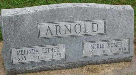 ARNOLD, MELINDA ESTHER - Thurston County, Nebraska | MELINDA ESTHER ARNOLD - Nebraska Gravestone Photos