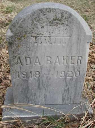 BAKER, ADA - Thurston County, Nebraska | ADA BAKER - Nebraska Gravestone Photos