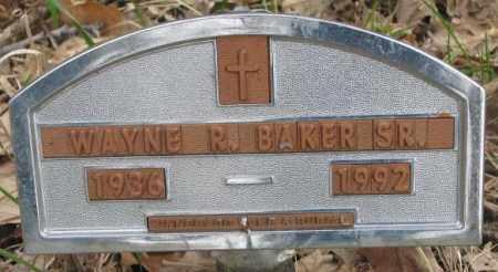 BAKER, WAYNE R. SR. - Thurston County, Nebraska | WAYNE R. SR. BAKER - Nebraska Gravestone Photos