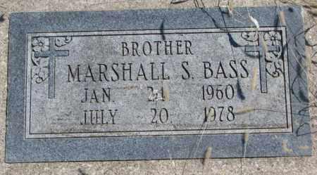 BASS, MARSHALL S. - Thurston County, Nebraska | MARSHALL S. BASS - Nebraska Gravestone Photos