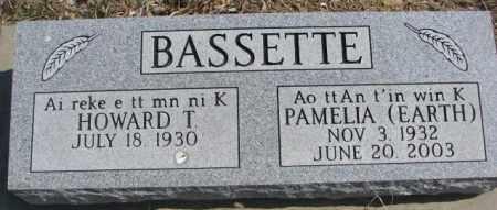 BASSETTE, HOWARD T. - Thurston County, Nebraska   HOWARD T. BASSETTE - Nebraska Gravestone Photos