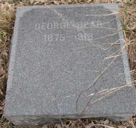 BEAR, GEORGE - Thurston County, Nebraska | GEORGE BEAR - Nebraska Gravestone Photos