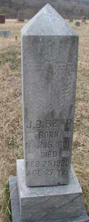 BEAR, J.B. - Thurston County, Nebraska | J.B. BEAR - Nebraska Gravestone Photos