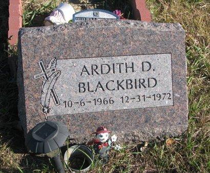 BLACKBIRD, ARDITH D. - Thurston County, Nebraska   ARDITH D. BLACKBIRD - Nebraska Gravestone Photos