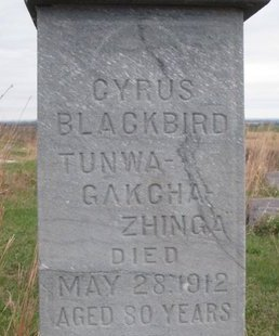 BLACKBIRD, CYRUS (CLOSE UP) - Thurston County, Nebraska | CYRUS (CLOSE UP) BLACKBIRD - Nebraska Gravestone Photos