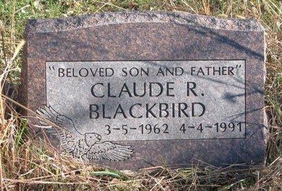 BLACKBIRD, CLAUDE R. - Thurston County, Nebraska | CLAUDE R. BLACKBIRD - Nebraska Gravestone Photos