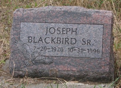 BLACKBIRD, JOSEPH SR. - Thurston County, Nebraska | JOSEPH SR. BLACKBIRD - Nebraska Gravestone Photos
