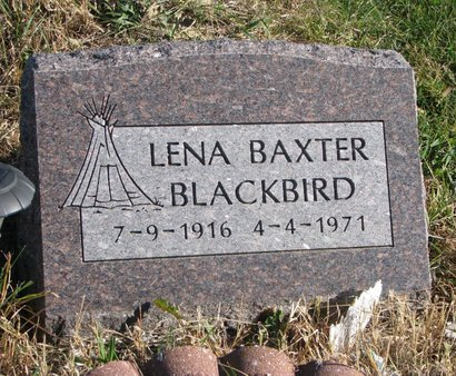 BLACKBIRD, LENA - Thurston County, Nebraska | LENA BLACKBIRD - Nebraska Gravestone Photos