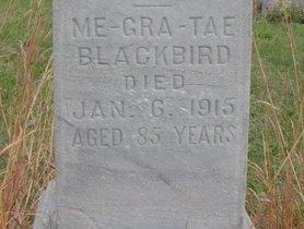 BLACKBIRD, ME-GRA-TAE (CLOSE UP) - Thurston County, Nebraska   ME-GRA-TAE (CLOSE UP) BLACKBIRD - Nebraska Gravestone Photos