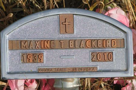 BLACKBIRD, MAXINE T. - Thurston County, Nebraska | MAXINE T. BLACKBIRD - Nebraska Gravestone Photos