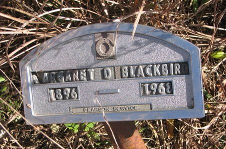 BLACKBIRD, MARGARET D. - Thurston County, Nebraska | MARGARET D. BLACKBIRD - Nebraska Gravestone Photos