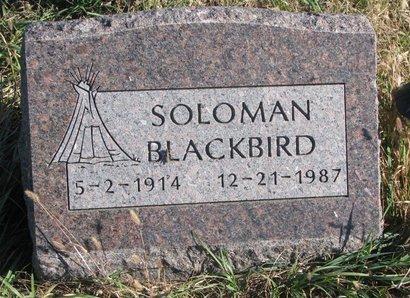 BLACKBIRD, SOLOMAN - Thurston County, Nebraska   SOLOMAN BLACKBIRD - Nebraska Gravestone Photos
