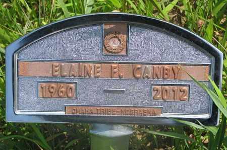 CANBY, ELAINE F. - Thurston County, Nebraska   ELAINE F. CANBY - Nebraska Gravestone Photos