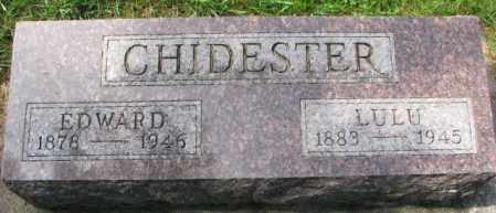 APPLEGATE CHIDESTER, LULU - Thurston County, Nebraska | LULU APPLEGATE CHIDESTER - Nebraska Gravestone Photos