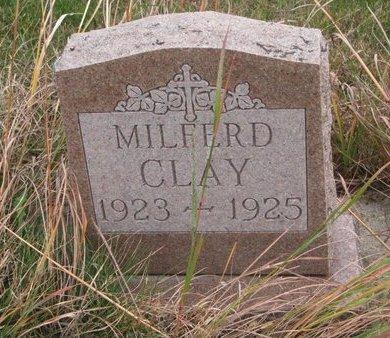 CLAY, MILFERD - Thurston County, Nebraska | MILFERD CLAY - Nebraska Gravestone Photos