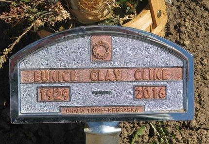 CLAY CLINE, EUNICE - Thurston County, Nebraska | EUNICE CLAY CLINE - Nebraska Gravestone Photos