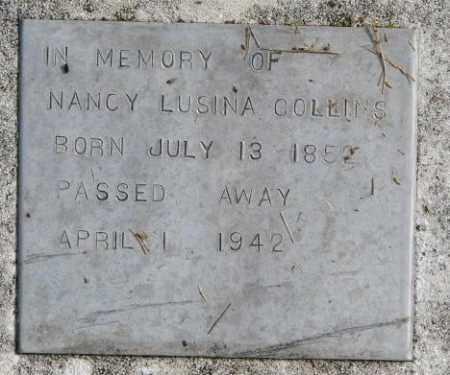 COLLINS, NANCY LUSINA - Thurston County, Nebraska | NANCY LUSINA COLLINS - Nebraska Gravestone Photos
