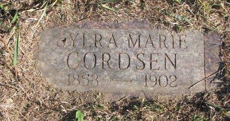 CORDSEN, SYLRA MARIE - Thurston County, Nebraska | SYLRA MARIE CORDSEN - Nebraska Gravestone Photos