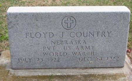COUNTRY, FLOYD J. - Thurston County, Nebraska | FLOYD J. COUNTRY - Nebraska Gravestone Photos