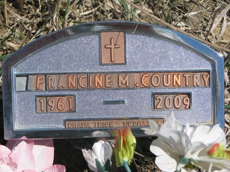 COUNTRY, FRANCINE M. - Thurston County, Nebraska   FRANCINE M. COUNTRY - Nebraska Gravestone Photos