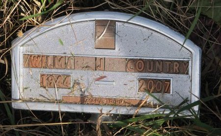 COUNTRY, WILMA J. - Thurston County, Nebraska | WILMA J. COUNTRY - Nebraska Gravestone Photos