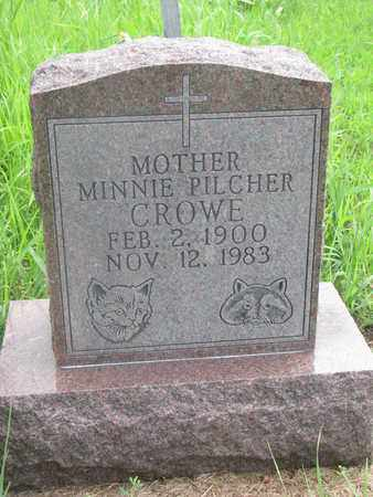 CROWE, MINNIE - Thurston County, Nebraska | MINNIE CROWE - Nebraska Gravestone Photos