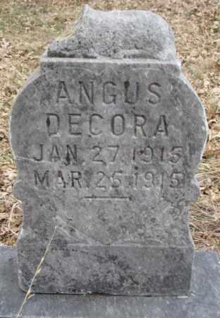 DECORA, ANGUS - Thurston County, Nebraska | ANGUS DECORA - Nebraska Gravestone Photos