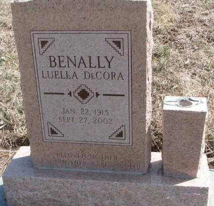 DECORA, BENALLY LUELLA - Thurston County, Nebraska | BENALLY LUELLA DECORA - Nebraska Gravestone Photos