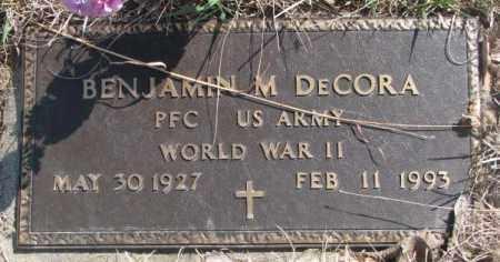 DECORA, BENJAMIN M. (WW II) - Thurston County, Nebraska | BENJAMIN M. (WW II) DECORA - Nebraska Gravestone Photos