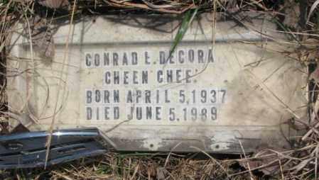 DECORA, CONRAD E. - Thurston County, Nebraska | CONRAD E. DECORA - Nebraska Gravestone Photos