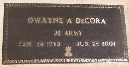 DECORA, DWAYNE A. - Thurston County, Nebraska | DWAYNE A. DECORA - Nebraska Gravestone Photos