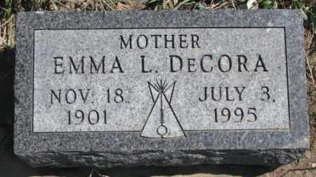 DECORA, EMMA L. - Thurston County, Nebraska | EMMA L. DECORA - Nebraska Gravestone Photos