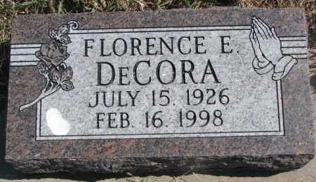 DECORA, FLORENCE E. - Thurston County, Nebraska   FLORENCE E. DECORA - Nebraska Gravestone Photos