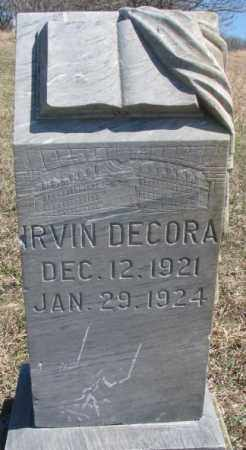 DECORA, IRVIN - Thurston County, Nebraska | IRVIN DECORA - Nebraska Gravestone Photos