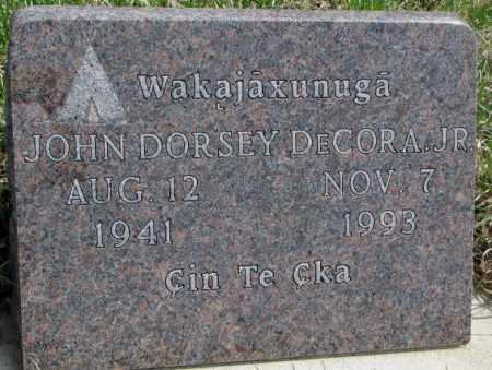 DECORA, JOHN DORSEY JR. - Thurston County, Nebraska | JOHN DORSEY JR. DECORA - Nebraska Gravestone Photos