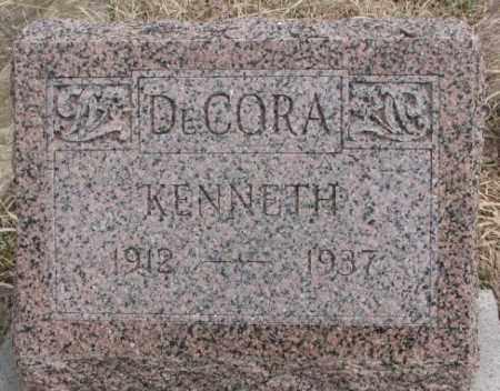 DECORA, KENNETH - Thurston County, Nebraska | KENNETH DECORA - Nebraska Gravestone Photos