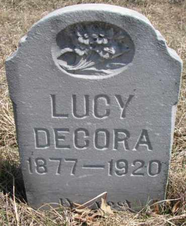 DECORA, LUCY - Thurston County, Nebraska | LUCY DECORA - Nebraska Gravestone Photos