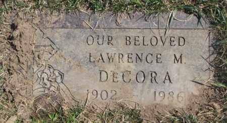 DECORA, LARENCE M. - Thurston County, Nebraska   LARENCE M. DECORA - Nebraska Gravestone Photos