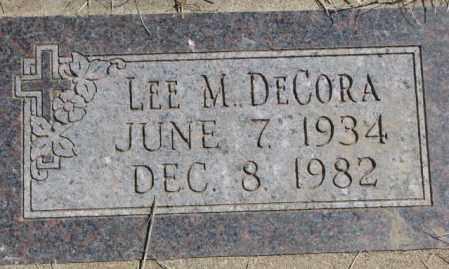 DECORA, LEE M. - Thurston County, Nebraska   LEE M. DECORA - Nebraska Gravestone Photos